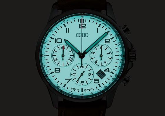 Audi Chronograph Luminous Watch Audi Merchandise - Audi watch