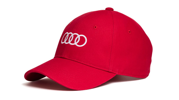 Unisex Baseball Cap Red Audi Merchandise