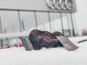 Pink Car Accessories Ice Scraper Glove